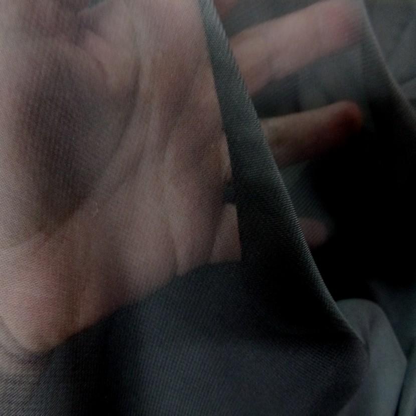 Mousseline polyester noire8