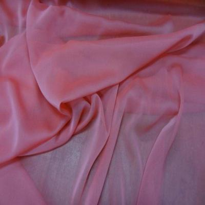 Mousseline polyester ton rose