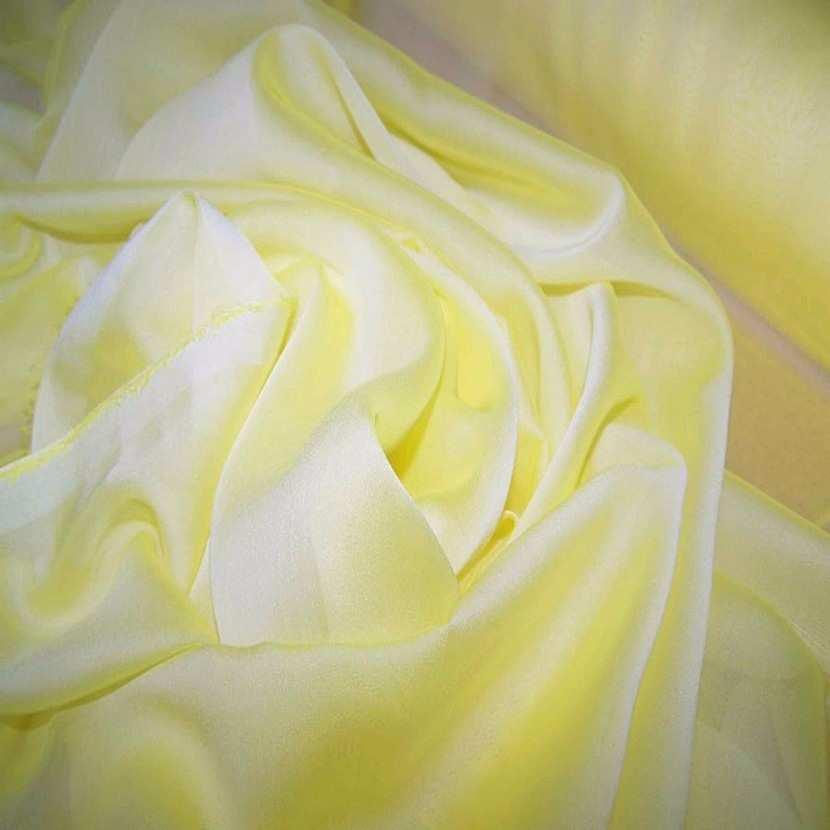 Mousseline polyester uni jaune