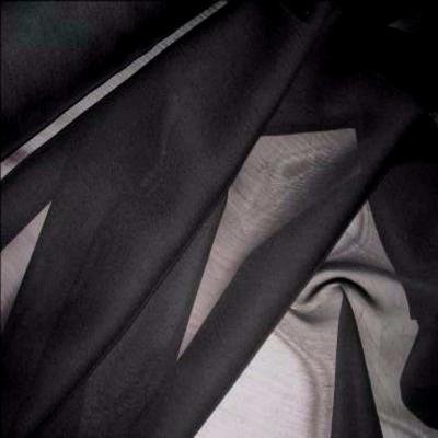 Mousseline polyester uni noire