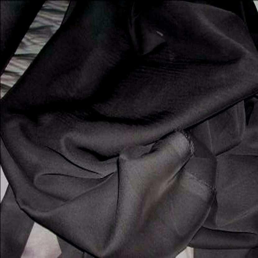 Mousseline polyester uni noire6
