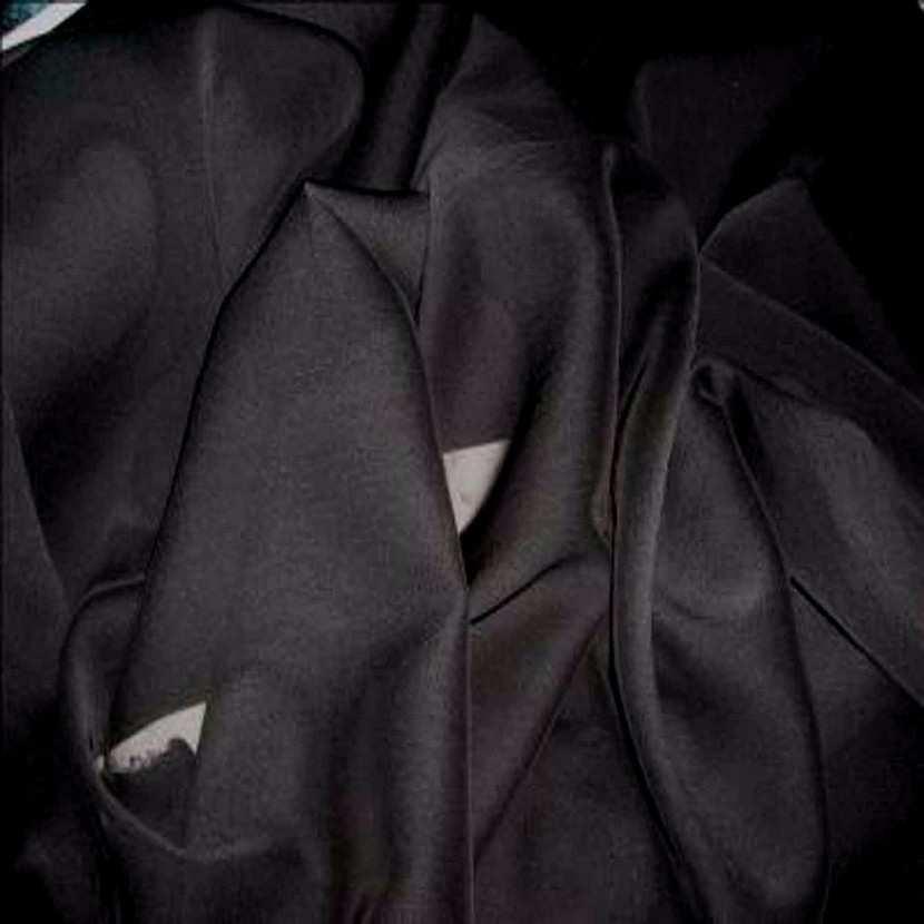 Mousseline polyester uni noire8