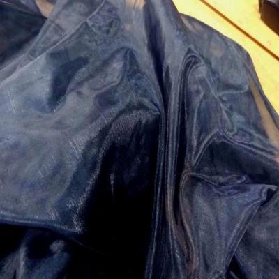 Organza bleu de prusse en 1 35m de large