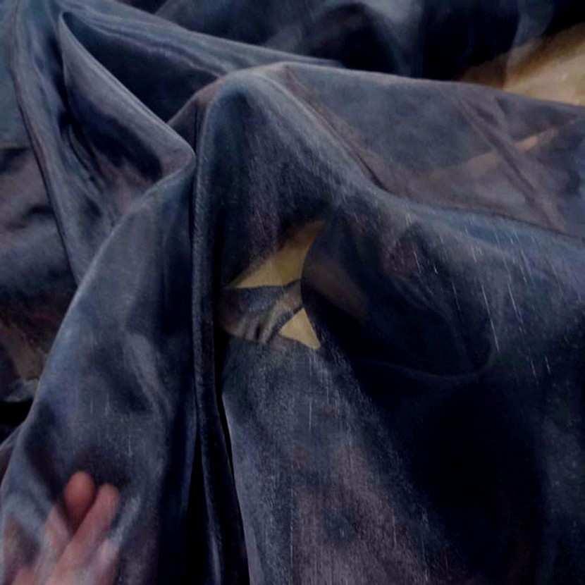 Organza bleu de prusse en 1 35m de large3