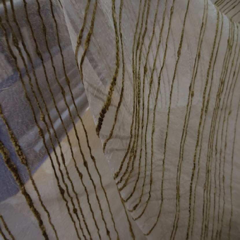 Organza brode en 2 80m plombe beige taupe1