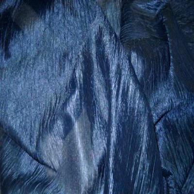 Organza froisse permanent bleu en 1 45m de large