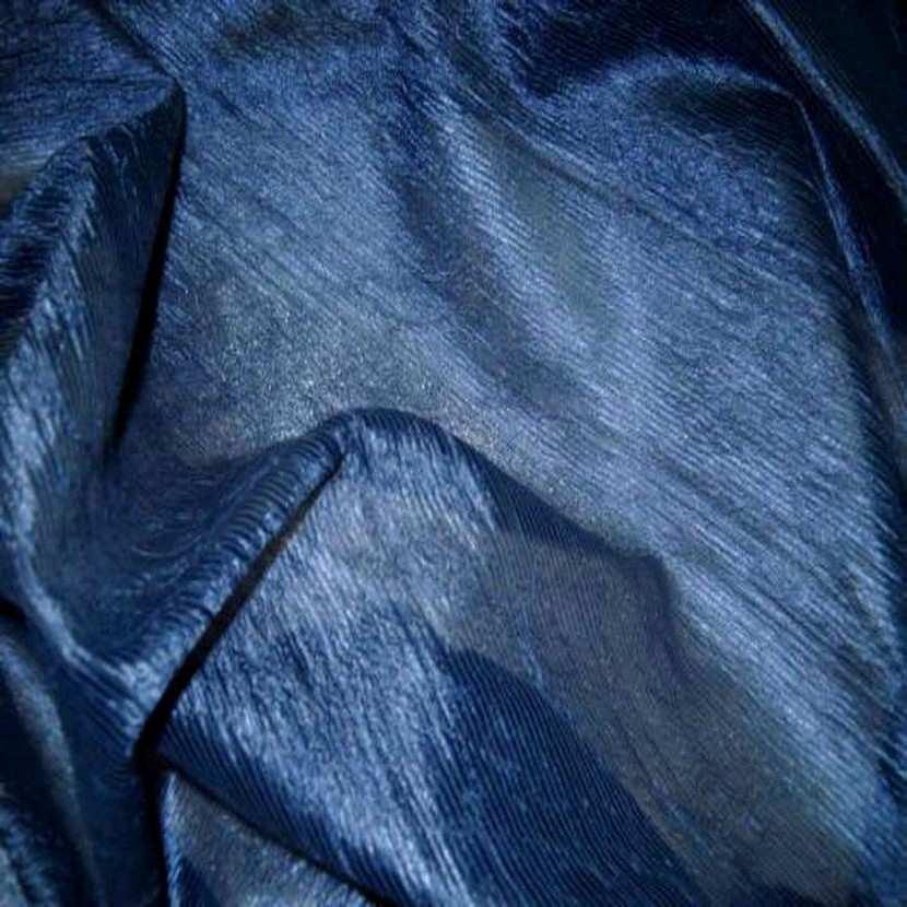 Organza froisse permanent bleu en 1 45m de large3