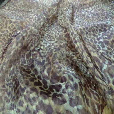 Organza imprime leopard