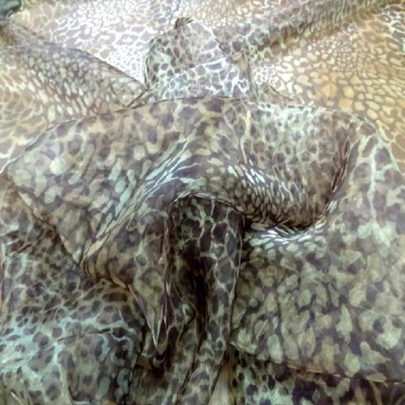 Organza imprime leopard1