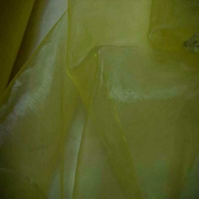 Organza jaune citron en 1 5m de large
