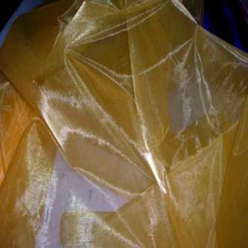 Organza jaune orange en 1 5m de large4