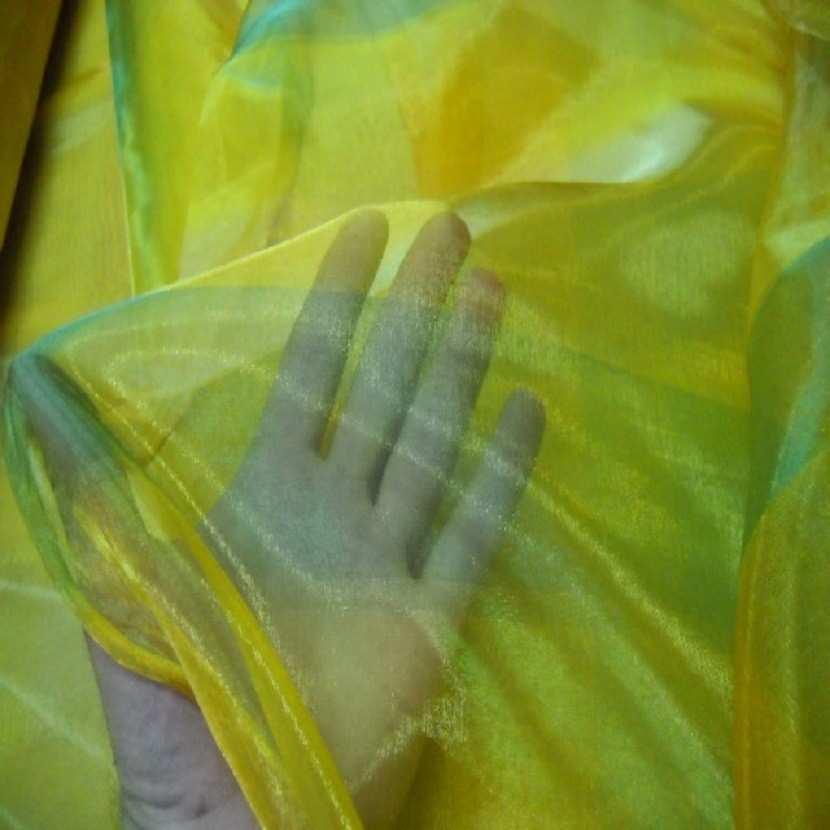 Organza jaune vert en 2 90m de large 0