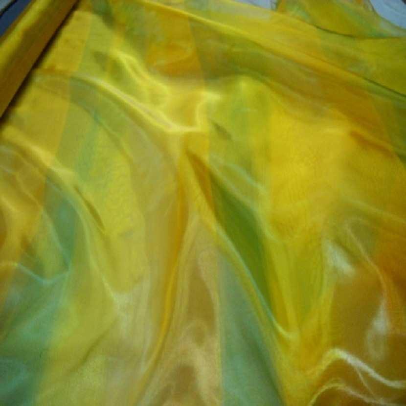 Organza jaune vert en 2 90m de large0