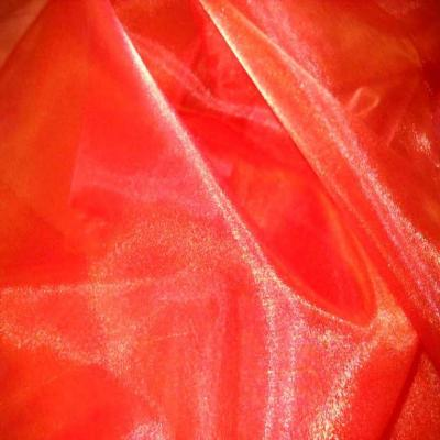 Organza orange reflets rouge en 2 90m