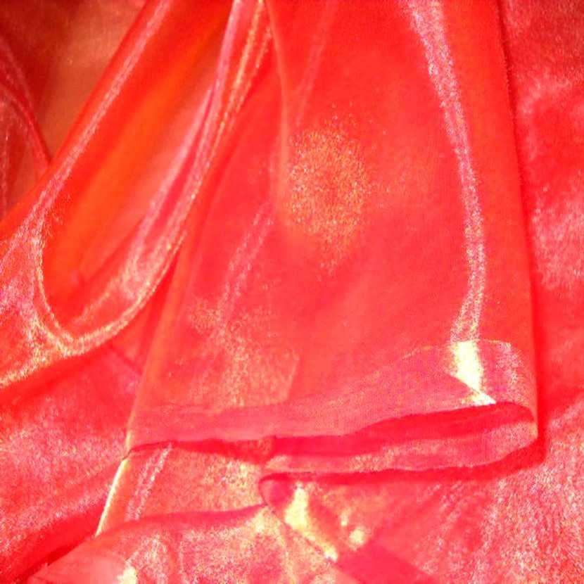 Organza orange reflets rouge en 2 90m1