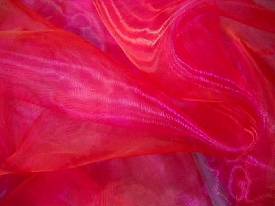 Organza rouse reflets framboise1