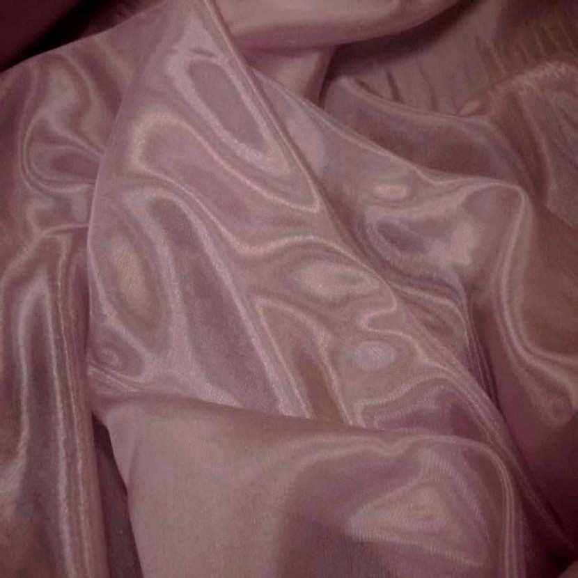 Organza souple rose reflets blanc en 1 5m de large2 1