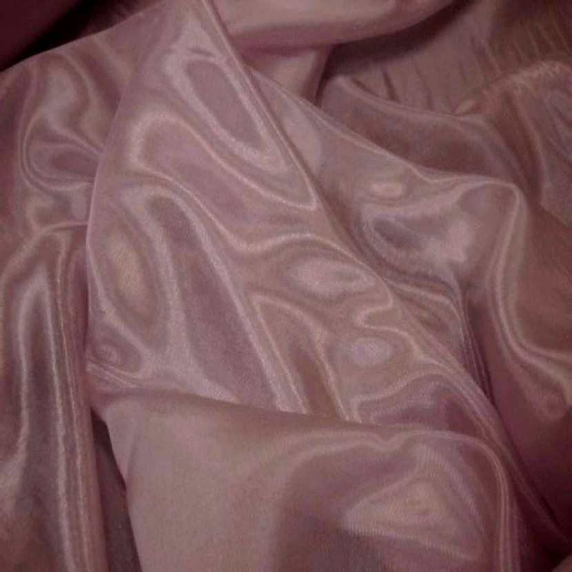Organza souple rose reflets blanc en 1 5m de large2