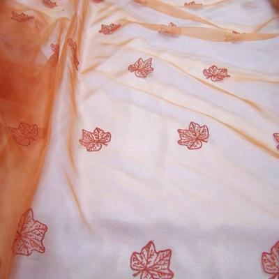 Organza ton orange brode