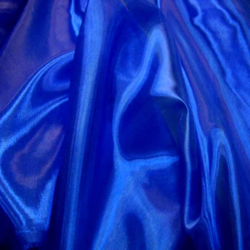 Organza top qualite bleu
