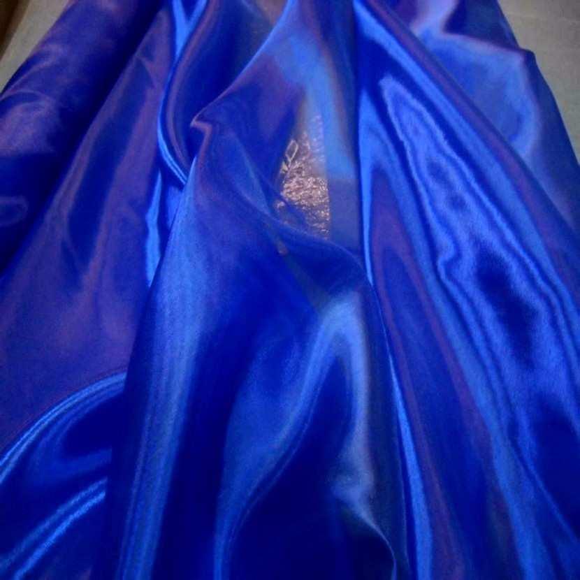 Organza top qualite bleu0