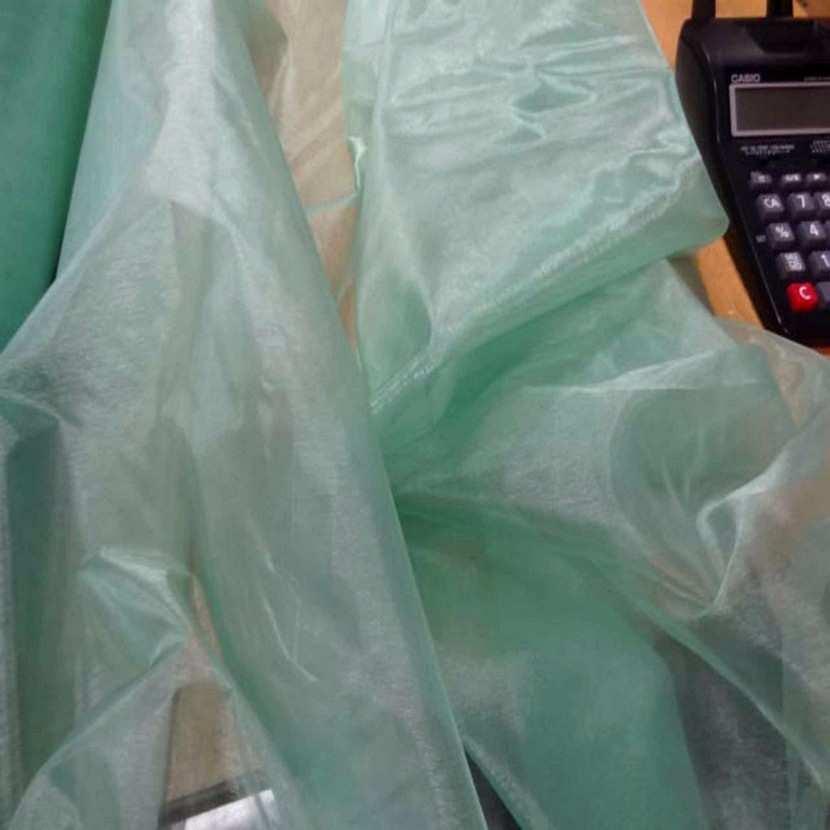 Organza vert d eau en 1 35m de large6