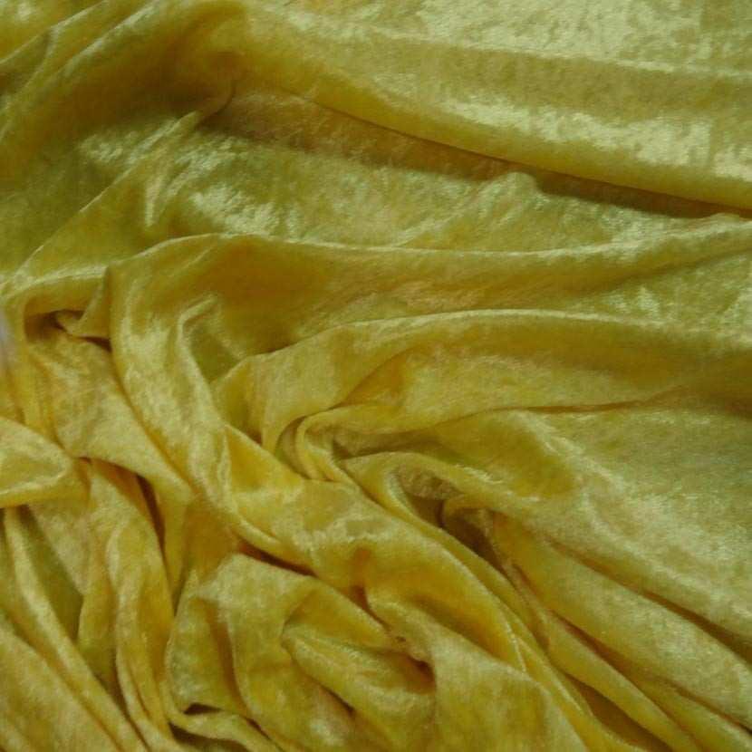Panne de velours jaune citron 1