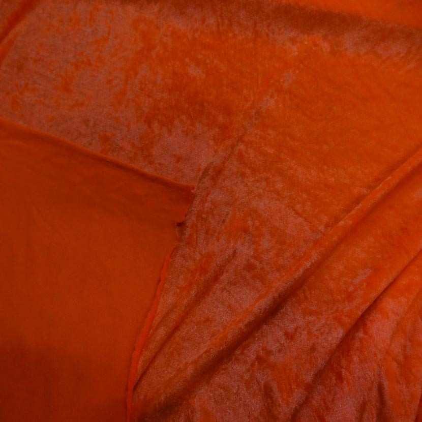 Panne de velours orange fluo