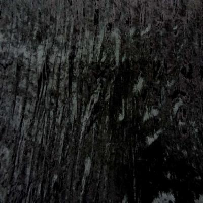 Panne de velours plisse noire