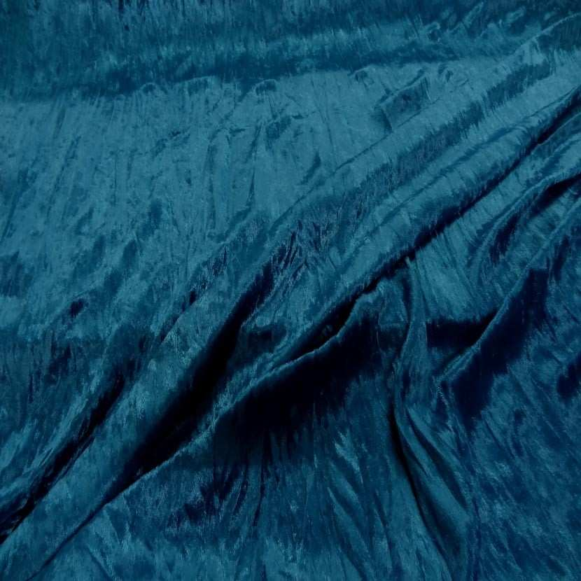 Panne de velours plisse ton bleu2