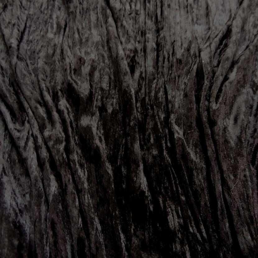 Panne de velours plisse ton marron fonce4