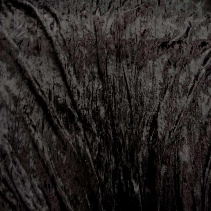 Panne de velours plisse ton marron fonce7