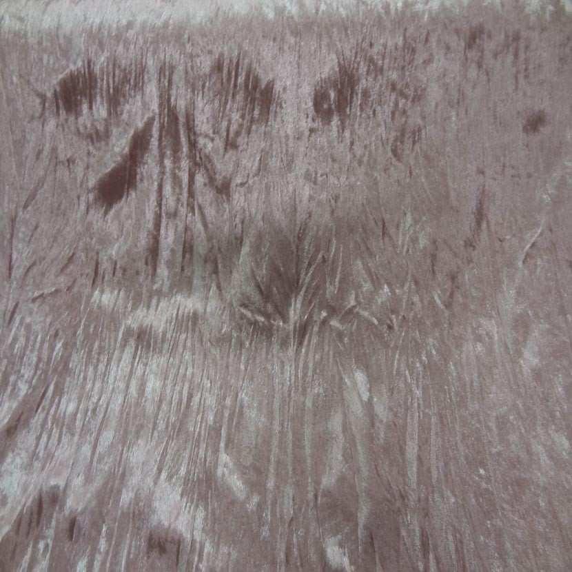 Panne de velours plisse ton rose glace1