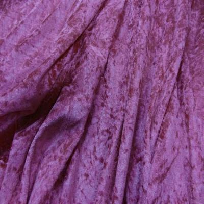 Panne de velours rose fuchsia