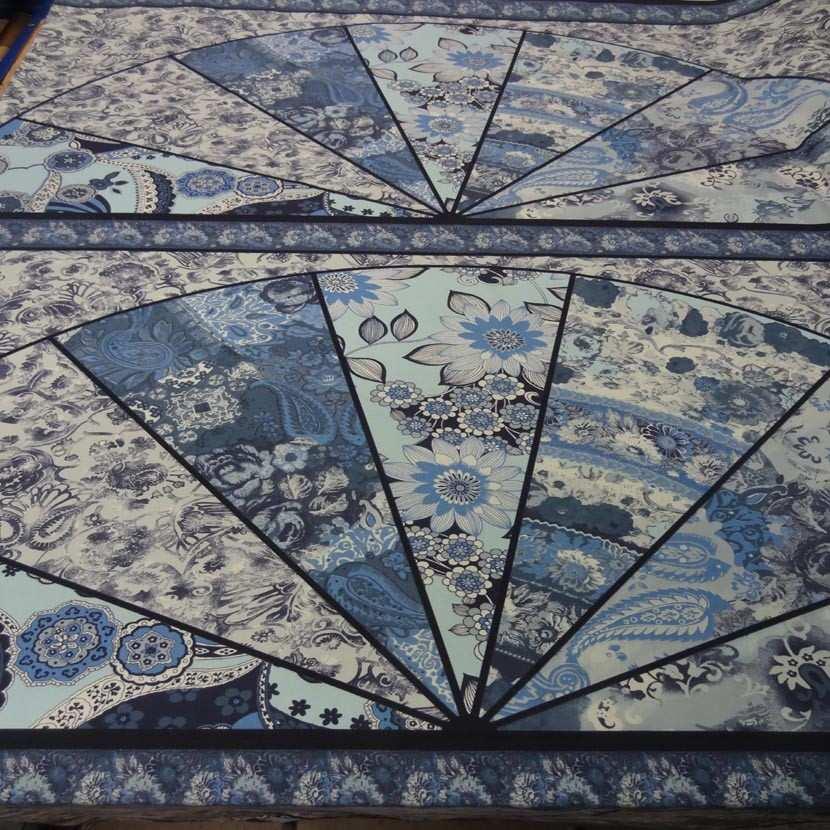 Panneau de gabardine coton ton bleu 0 90m
