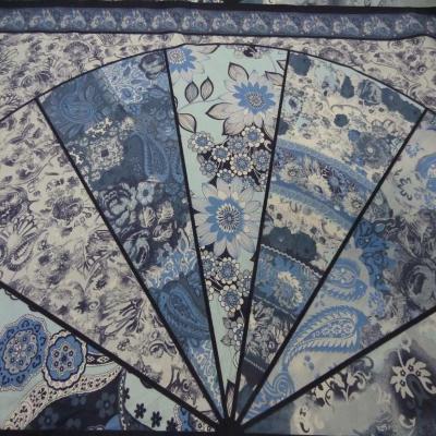 Panneau de gabardine coton ton bleu 0 90m9