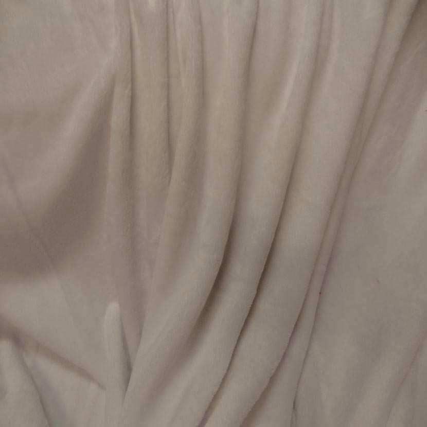 Polaire double face doudou toucher pilou beige clair