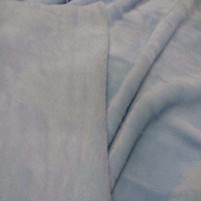 Polaire double face doudou toucher pilou bleu ciel