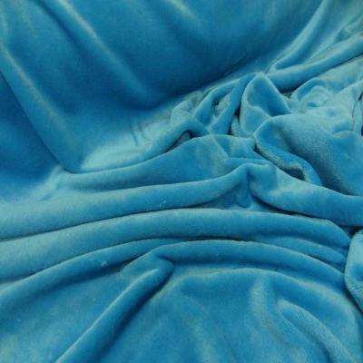 Polaire double face doudou toucher pilou bleu glacier