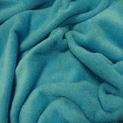 Polaire double face doudou toucher pilou bleu turquoise8