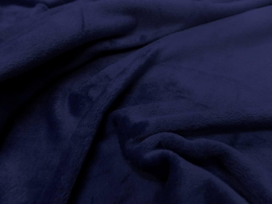 Polaire double face doudou toucher pilou bleu