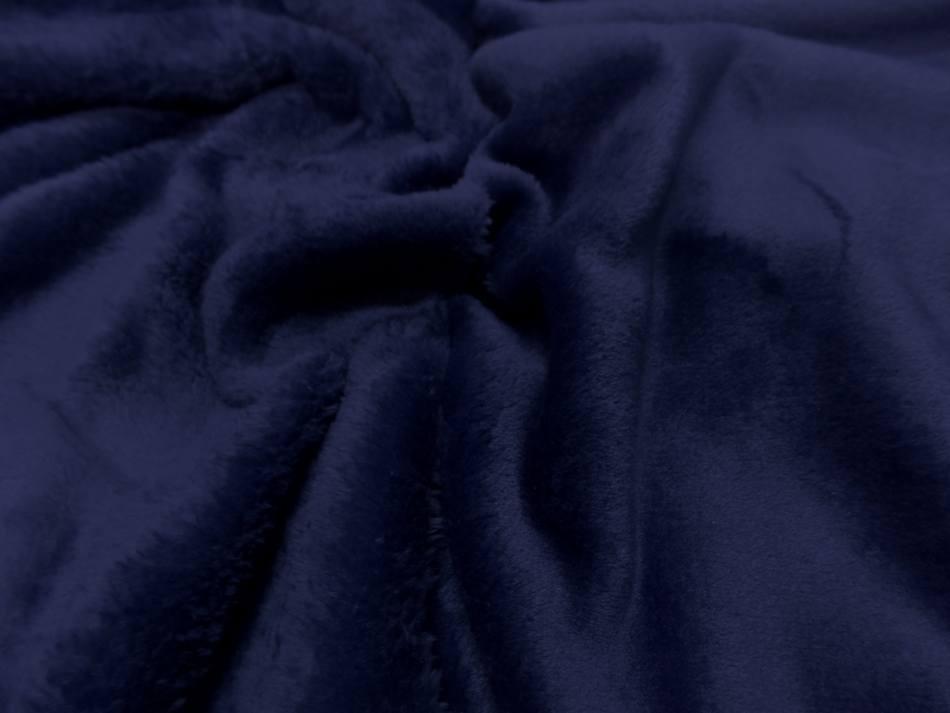 Polaire double face doudou toucher pilou bleu2