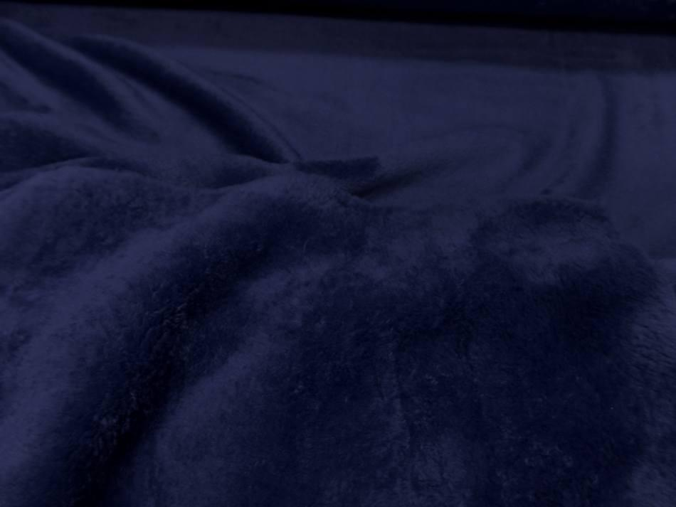 Polaire double face doudou toucher pilou bleu9