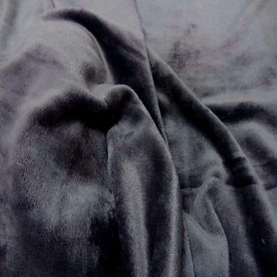 Polaire double face doudou toucher pilou gris anthracite1