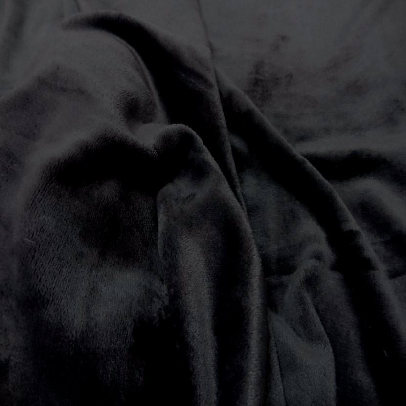 Polaire double face doudou toucher pilou noir0