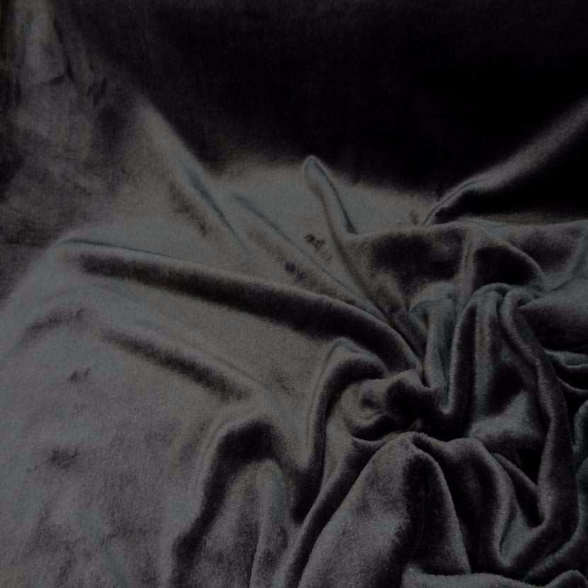 Polaire double face doudou toucher pilou noire