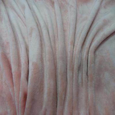 Polaire double face doudou toucher pilou rose clair