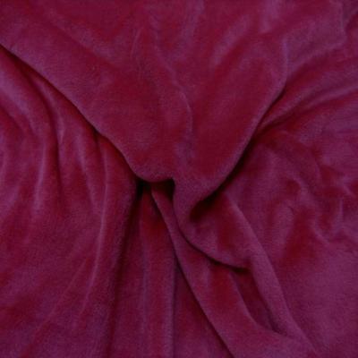 Polaire double face doudou toucher pilou rose fuchsia