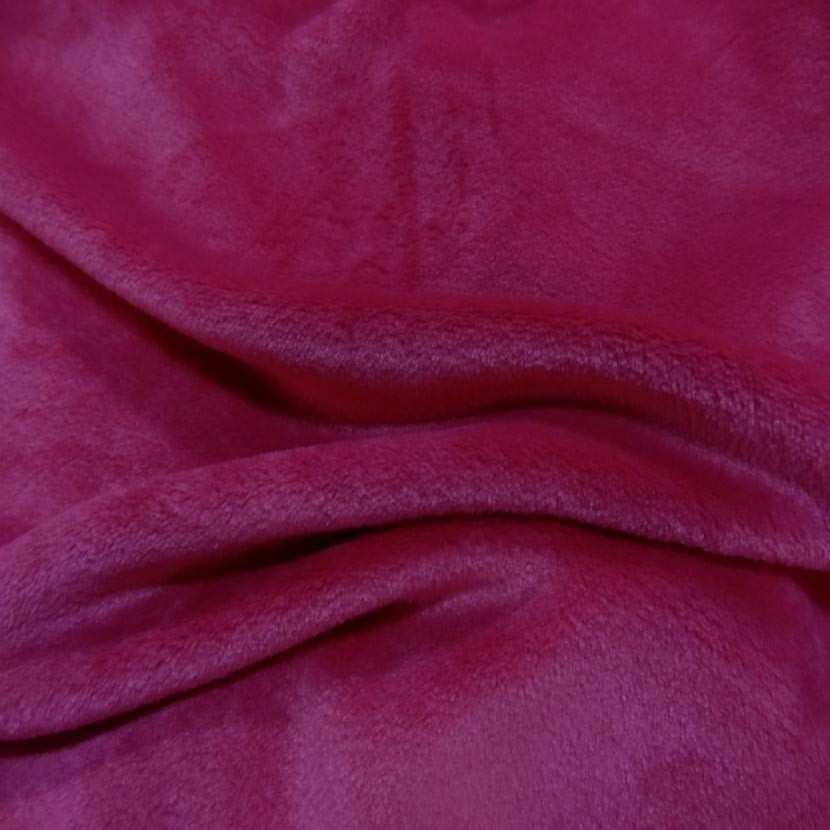 Polaire double face doudou toucher pilou rose fuchsia3