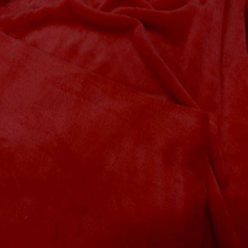 Polaire double face doudou toucher pilou rouge2